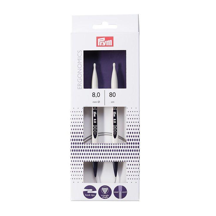 Prym Ergonomic Design Circular Knitting Pins/Needles,8 mm, 80 cm Length: Amazon.co.uk: Kitchen & Home