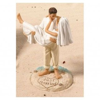 """Just Married"" Beach Couple Cake Topper #daisydays"