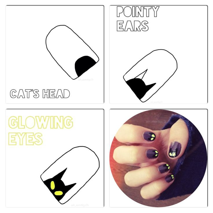 Halloween nails, how-to http://do-love-lovedoign.blogspot.com/ nails, nailart cats