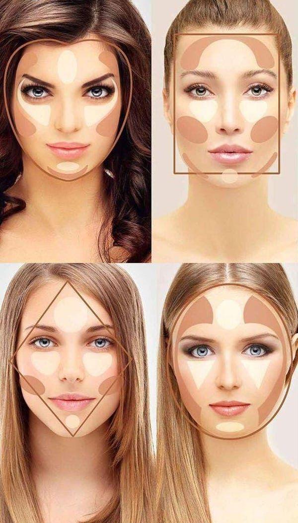 How To Get The Perfect Contour For Your Face Shape   Dicas de maquiagem, Dicas de maquilhagem, Dicas de maquiagem e truques