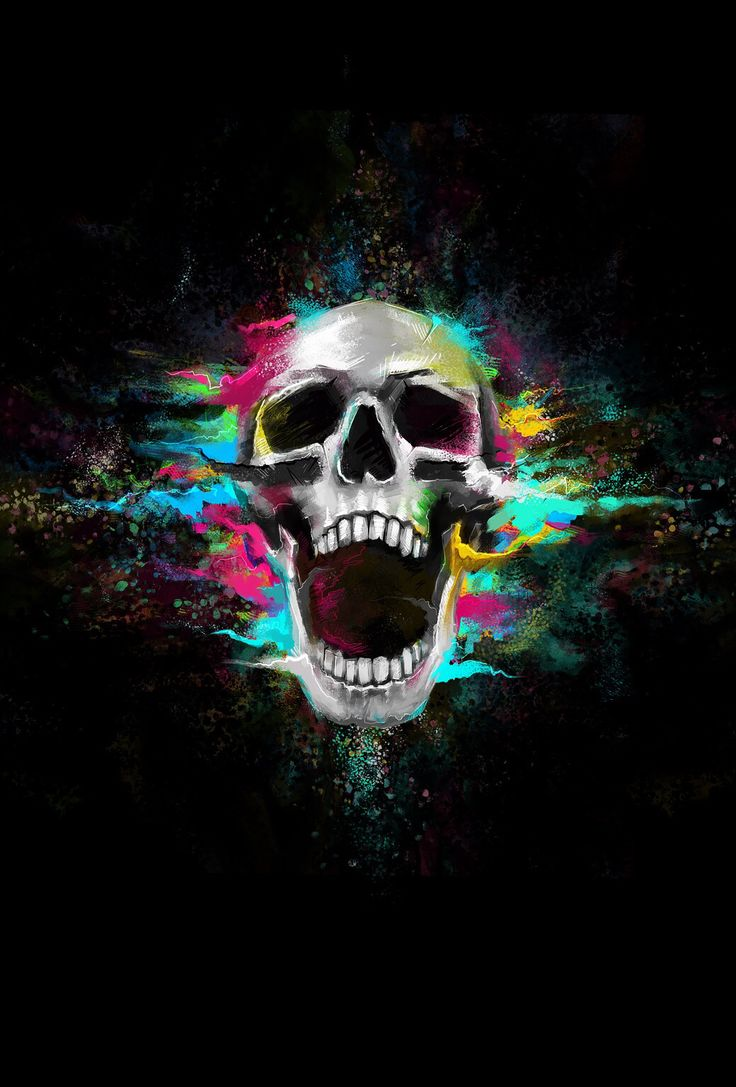 17 best images about skulls decorated on pinterest black - Skull wallpaper iphone 6 ...