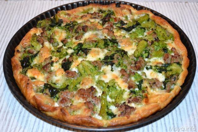 Torta salata broccoli e salsicce