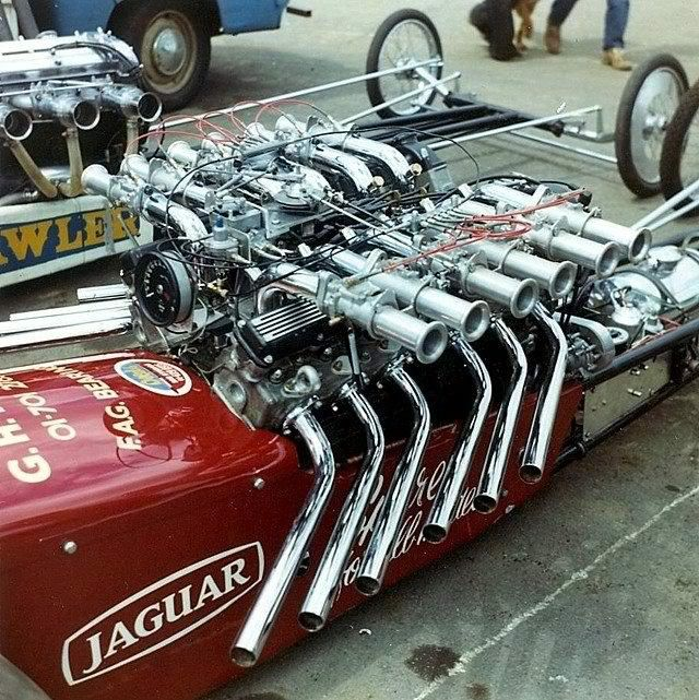 V12 Jaguar Powered Dragster Engines Pinterest