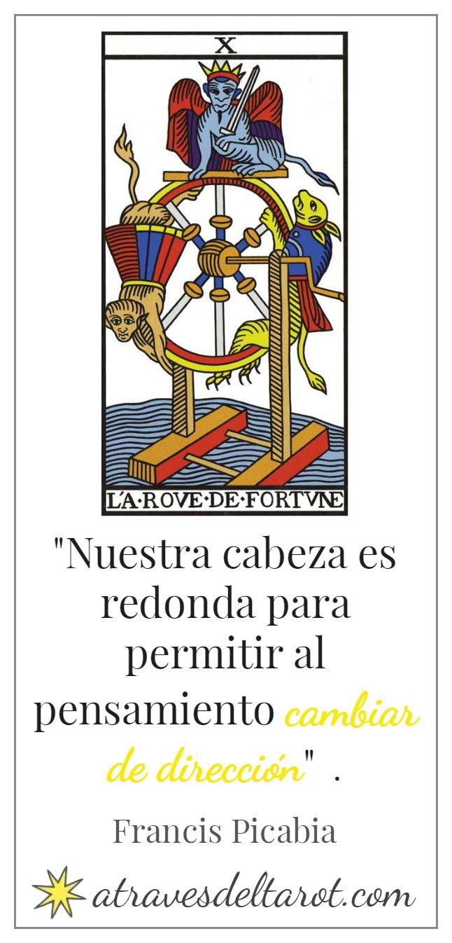 Integrar los Arcanos Mayores del Tarot de Marsella conectándolos con citas célebres. La rueda de la fortuna.