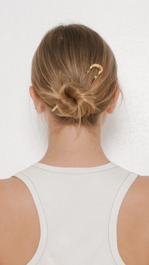 Sylvain Le Hen Hair Pin 014 in Gold | The Dreslyn