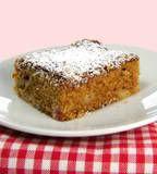 One Perfect Bite: Rhubarb Coffee Cake with Cinnamon-Sugar Topping
