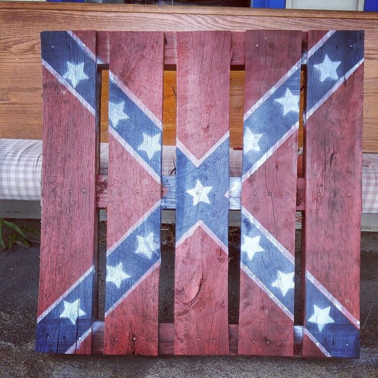 My rebel flag pallet