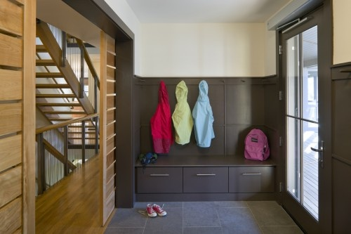 really can get into this contemporary entry with functionality and style - transitional feel