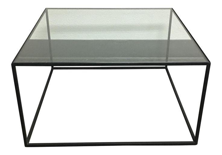 Iron & Glass Coffee Table on Chairish.com