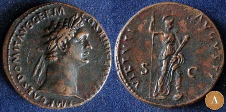 Римская империя, Домициан, 81-96 годы, асс. | ANDREY PYATYGIN ANCIENT COINS | Магазины | Антикварус