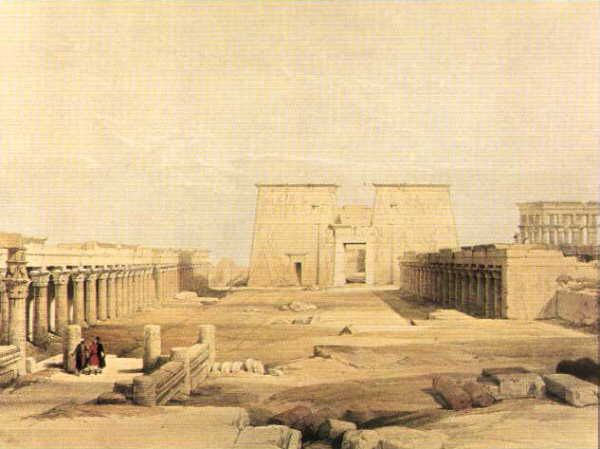 Approach to the Temple of Philae