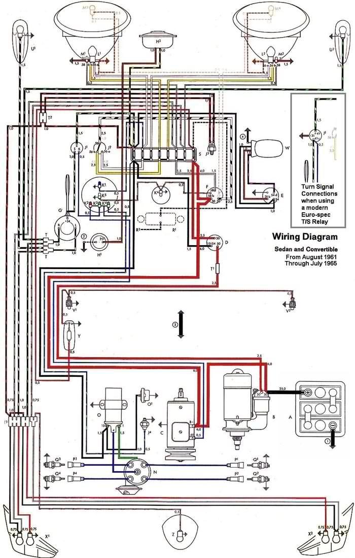 vwbeetlewiringdiagrams6265electric  vw super