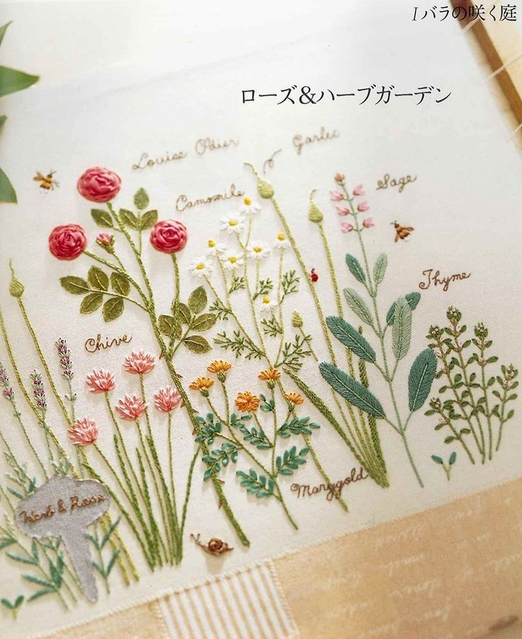 *I want to do an embroidered botanical project now!!