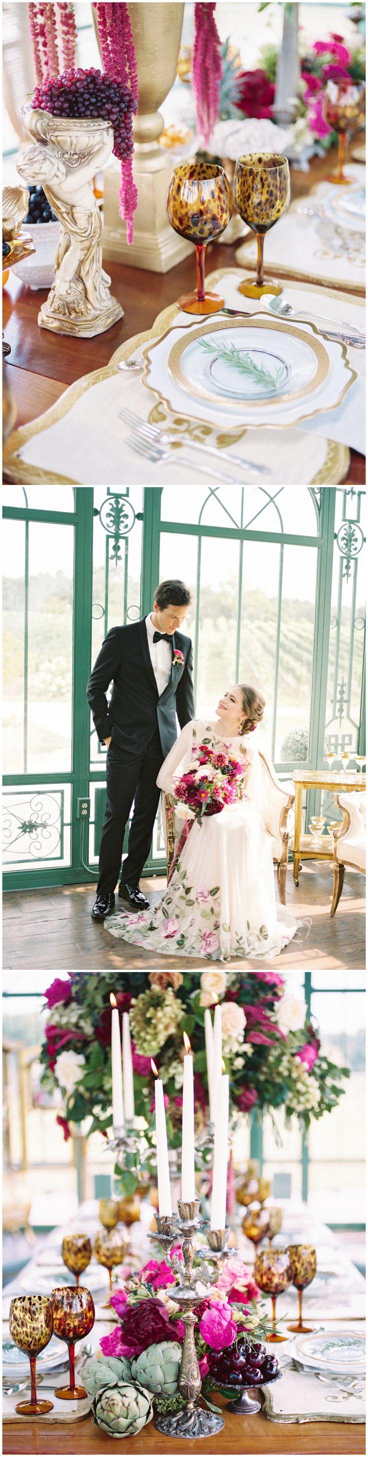 Italian Luxe Wedding Reception Details