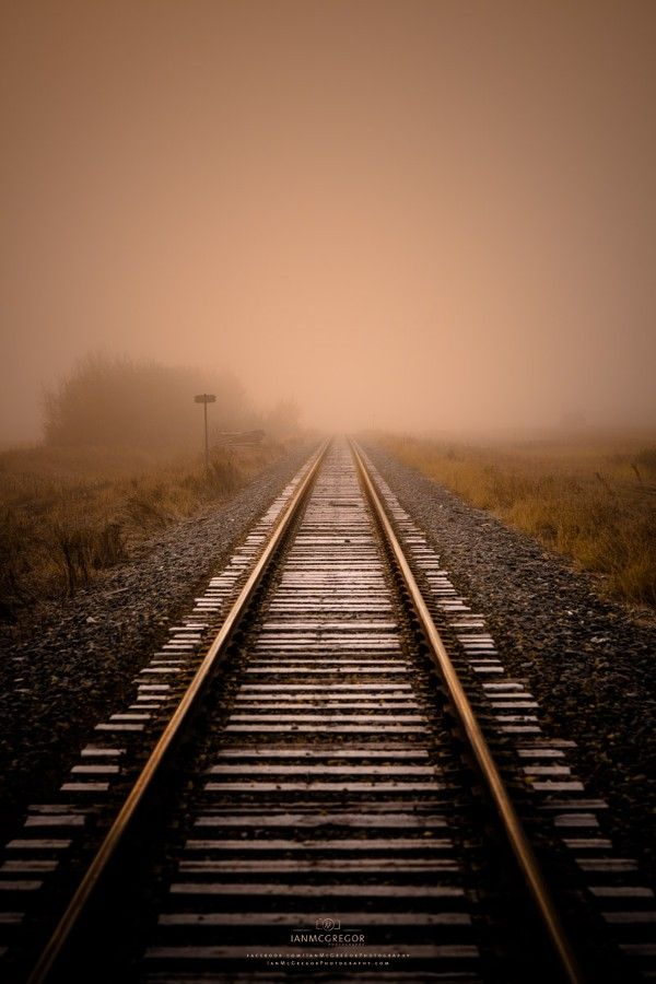 train tracks in Saskatchewan, Canada