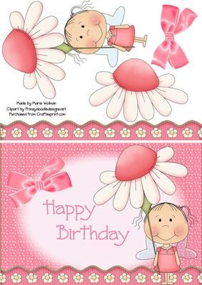 Pink Birthday Girl http://www.craftsuprint.com/card-making/step-by-steps/birthday-girl/377827-pink-birthday-girl.cfm#