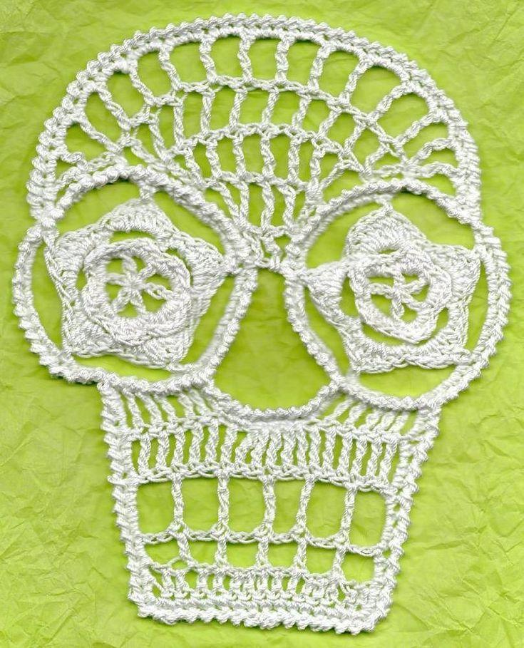 71 best Calaveras ganchillo - Crochet skull images on Pinterest ...
