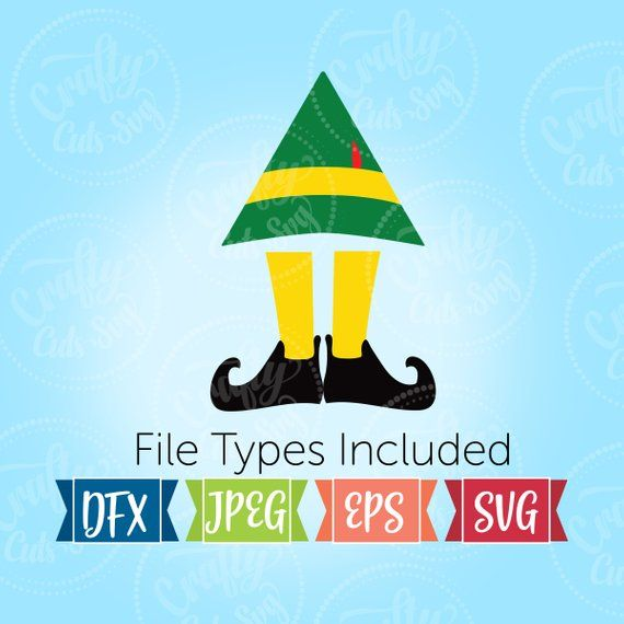 Elf Hat And Feet Svg Christmas Elf Svg Buddy Christmas Elf Elf Christmas Svg