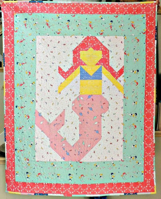 Little Miss Merry Mermaid Quilt Pattern Featuring