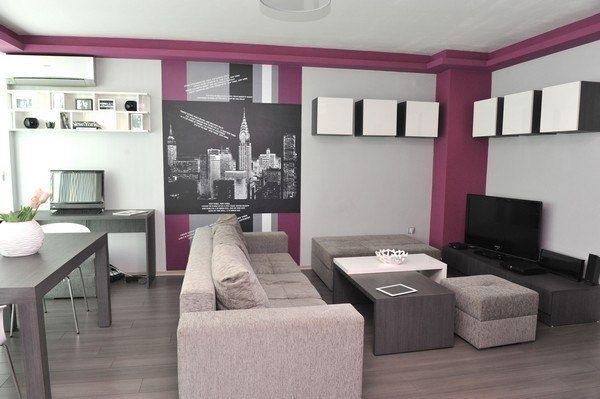 Маленькая двухкомнатная квартира в Софии с графическим дизайном стен - Дизайн интерьеров | Идеи вашего дома | Lodgers