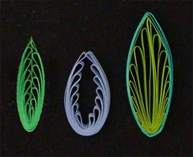 Complex quilled designs - would be good to offset for dragonfly wings, or peacock feather swirls. quilling, quilling comb, leaf pattern