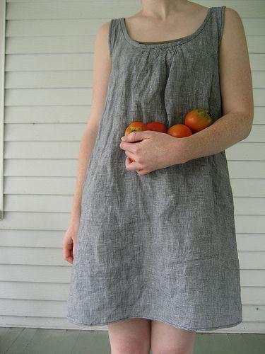 easy, beautiful linen dress.