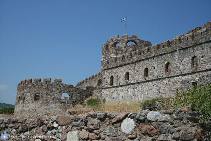 Die Festung von Mytilini auf der griechischen Insel Lesbos