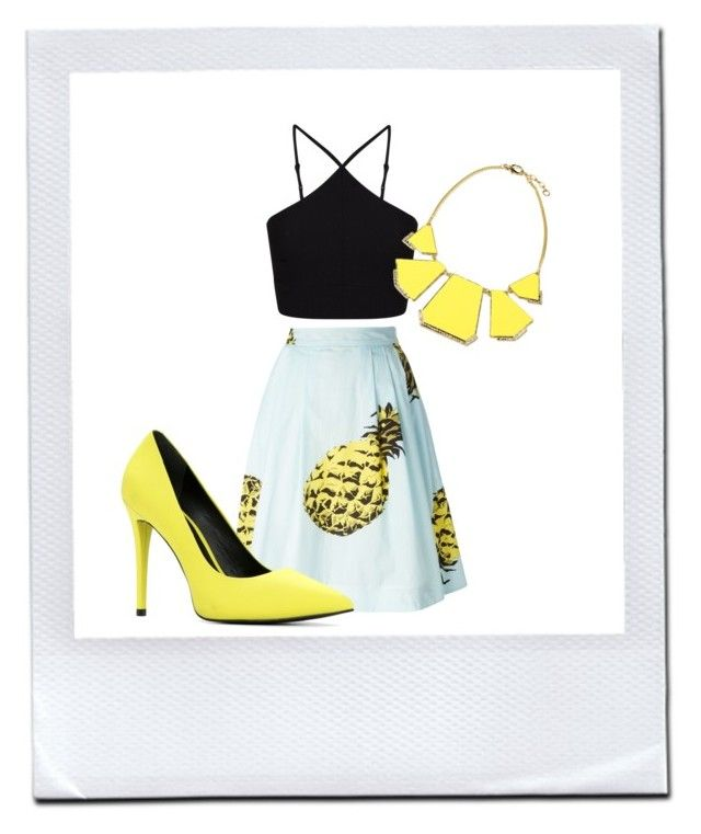 """Pop Yellow "" by andreea-sydney on Polyvore"