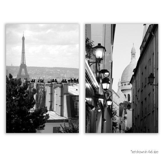 Paris Photography, Paris Decor, Eiffel Tower, Montmartre, Paris Rooftops,  Paris Photos