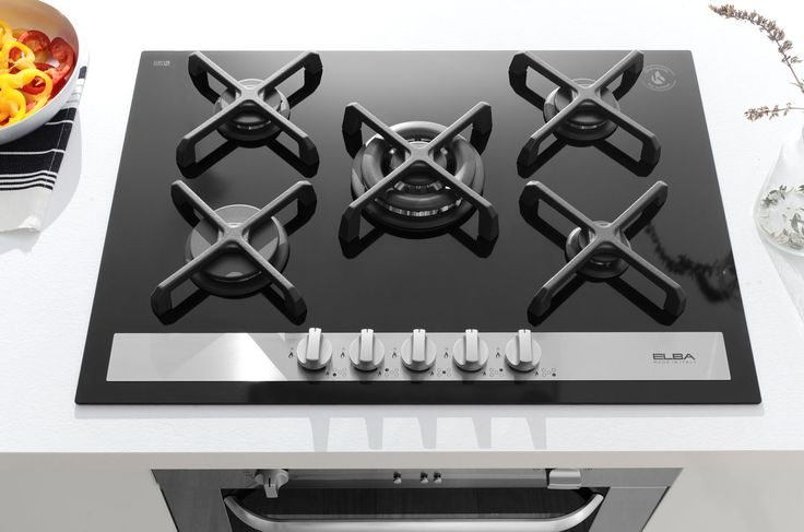 ELBA Gas-on-Ceramic Glass Hob (Gas Certified, Fire High Resistance)