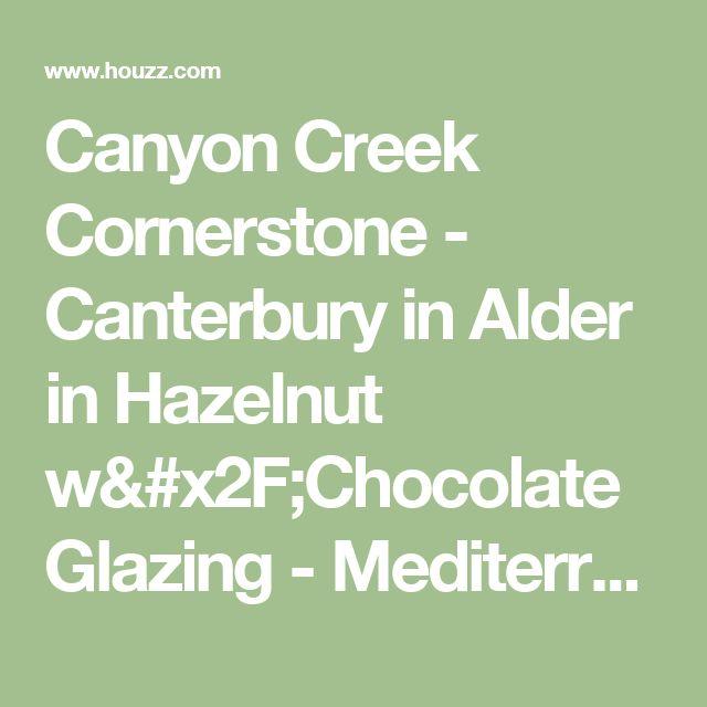 Canyon Creek Cornerstone - Canterbury in Alder in Hazelnut w/Chocolate Glazing - Mediterranean - Bathroom - Seattle - by Canyon Creek Cabinet Company