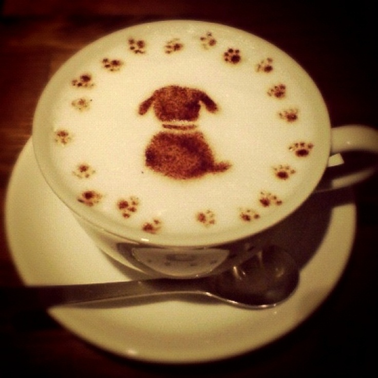 Here's a little puppy latte foam art for all the great dog lovers out there…