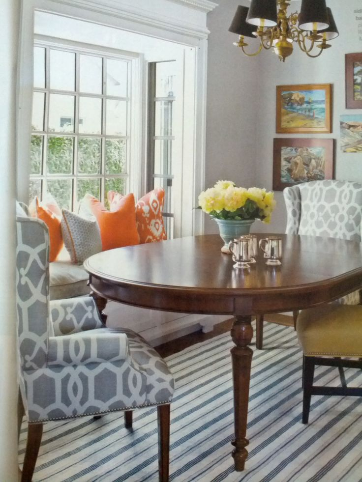 Bay window seat in dining room, That Old House.