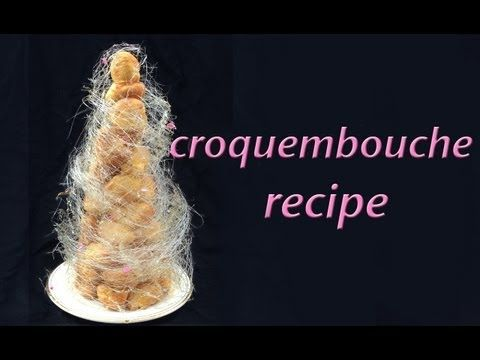 Croquembouche Recipe Profiterole Tower HOW TO COOK THAT Ann Reardon - YouTube