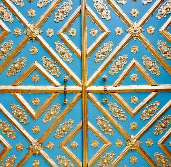 Ornate door in Munich