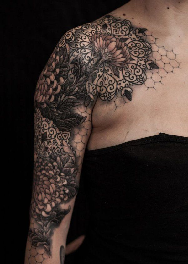 9 chrysanthemum tattoo