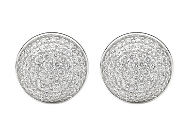 Silver and Some - Georgini Earrings, Round Pave Stud Earrings $189.00