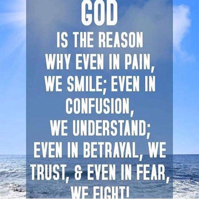 God is THE REASON✌🙏😇