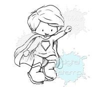 Check out this superhero cutie digital stamp. Order and print out your super boy stamp today! Find even more digital stamps online by Tiddly Inks.