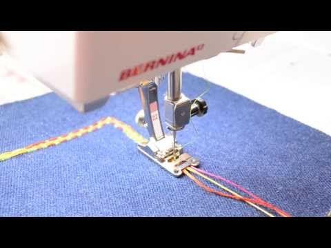 ▶ video pied 22 pose 3 cordons - utiliser les points décoratifs de la MAC pour un effet de galon