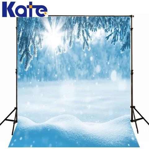 凯特照片背景冰封雪厚冬日阳光丰的摄影工作室