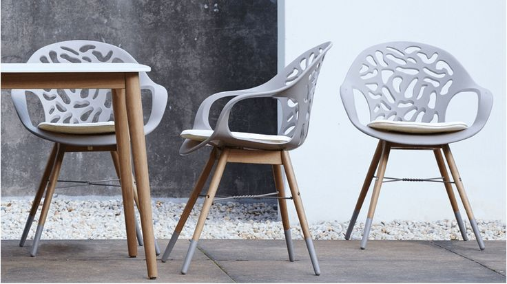 Coral Reef Carver Chair - White | Domayne