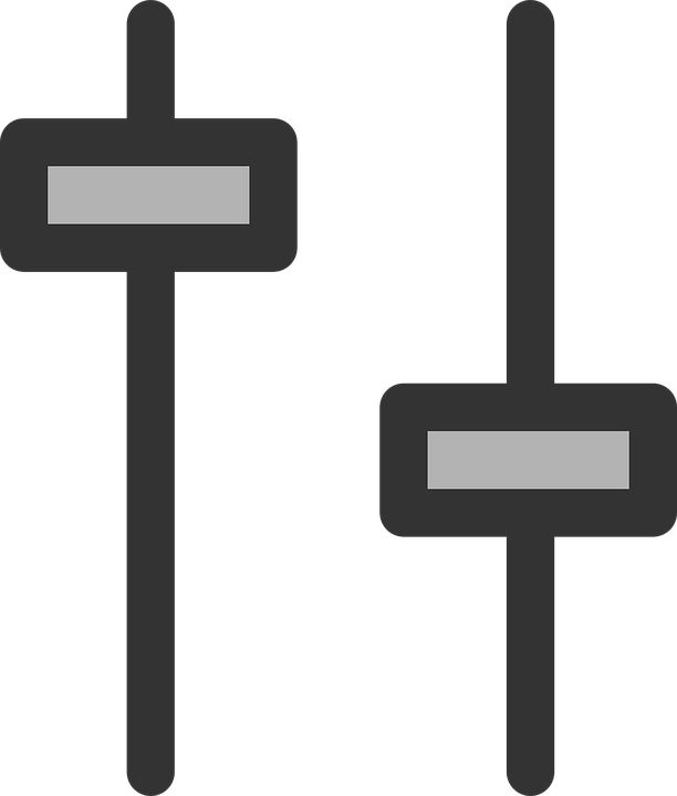 Slider, Audio, Mixer, Equalizer, Volume, Switch, Knob