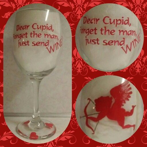 Hand Painted Valentines Day Wine Glass My Creations Painted Wine