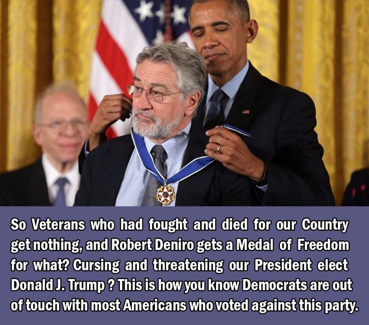 This is how you know that most Dems are out of touch with most Americans// This is a disgrace. Actors getting a Medal of Freedom for doing nothing except being idiots.