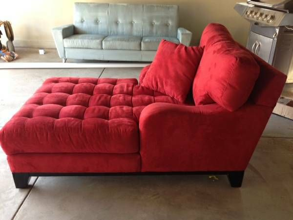 Red Chaise Sofa Chair