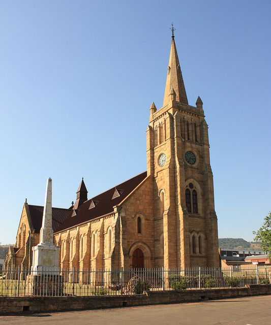 The elegant Dutch Reform church is found in Vryheid, KwaZulu-Natal, South Africa. The church is declared a heritage site