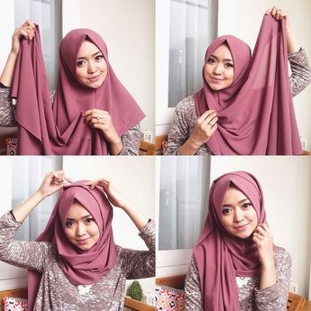 This is a modest Hijab Style for beginners that you can create in few steps, within 1 minute, you can use an underscarf underneath depending on how your hijab fabric is. Here are the easy 4 steps to this…