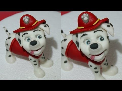How to make Marshall Paw Patrol tutorial cake topper fondant sugar paste - CakesDecor