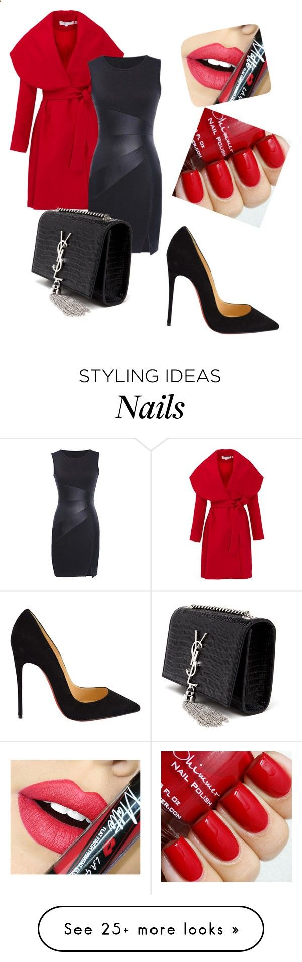 Untitled #381 by srlangley on Polyvore featuring Keepsake the Label, Christian Louboutin, Yves Saint Laurent, Fiebiger, women's clothing, women's fashion, women, female, woman and misses